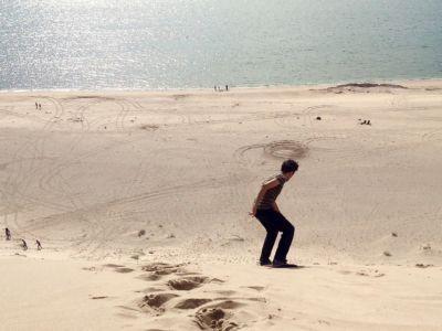 Sandboarding na dunách San Nicolas