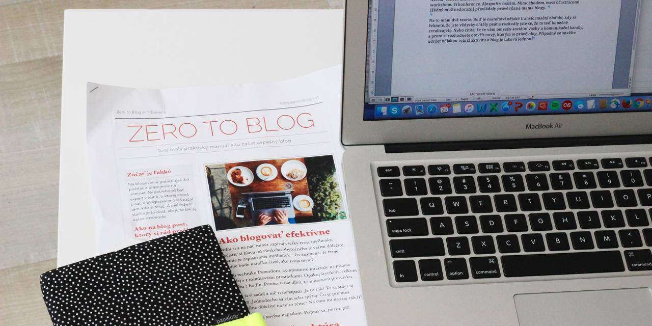 blogování od nuly