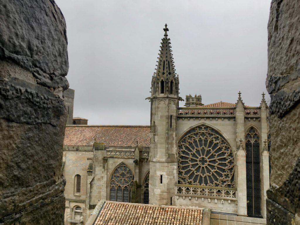 A tentokrát výhled na katedrálu